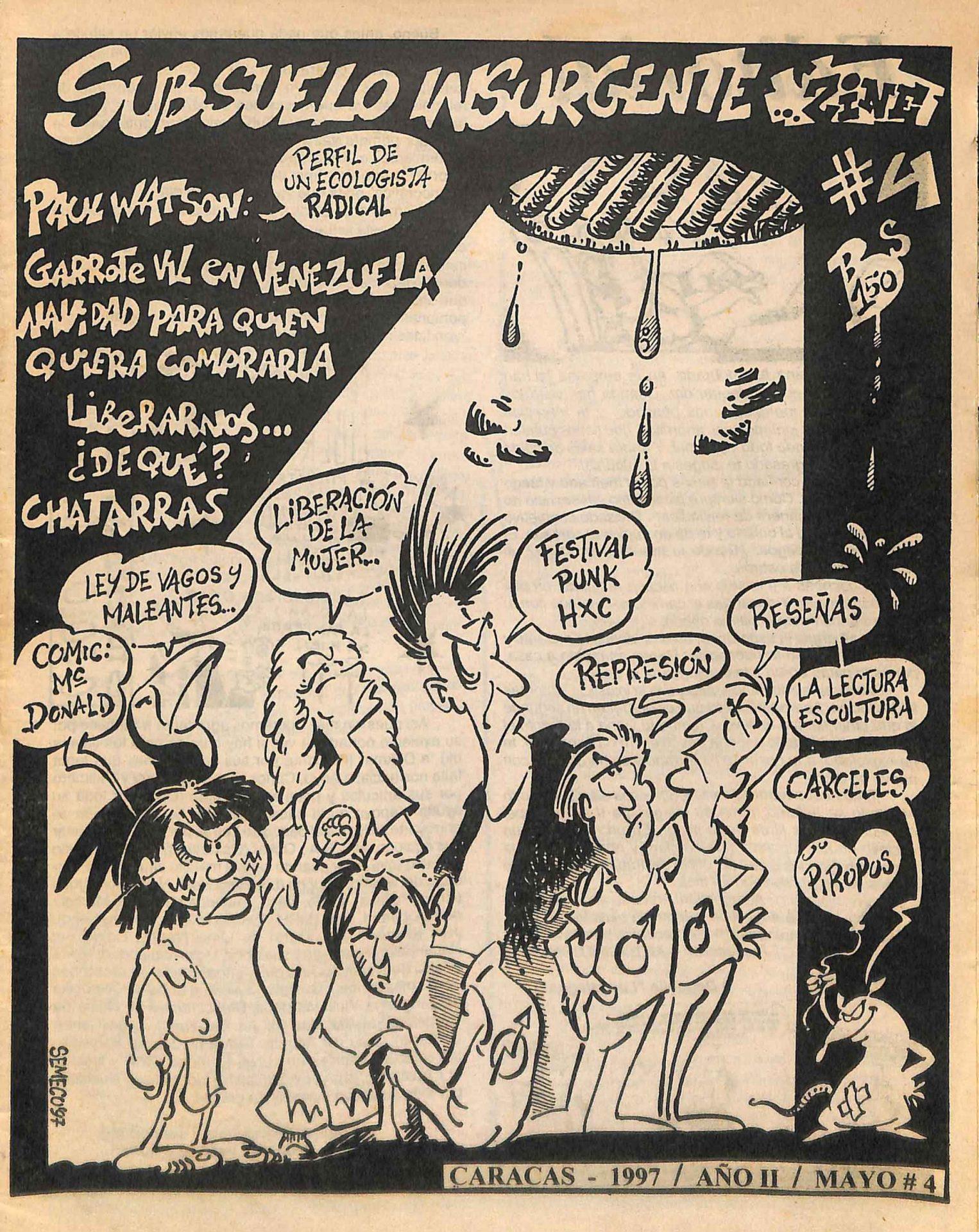 Sub-suelo Insurgente Zine No. 4, 1997