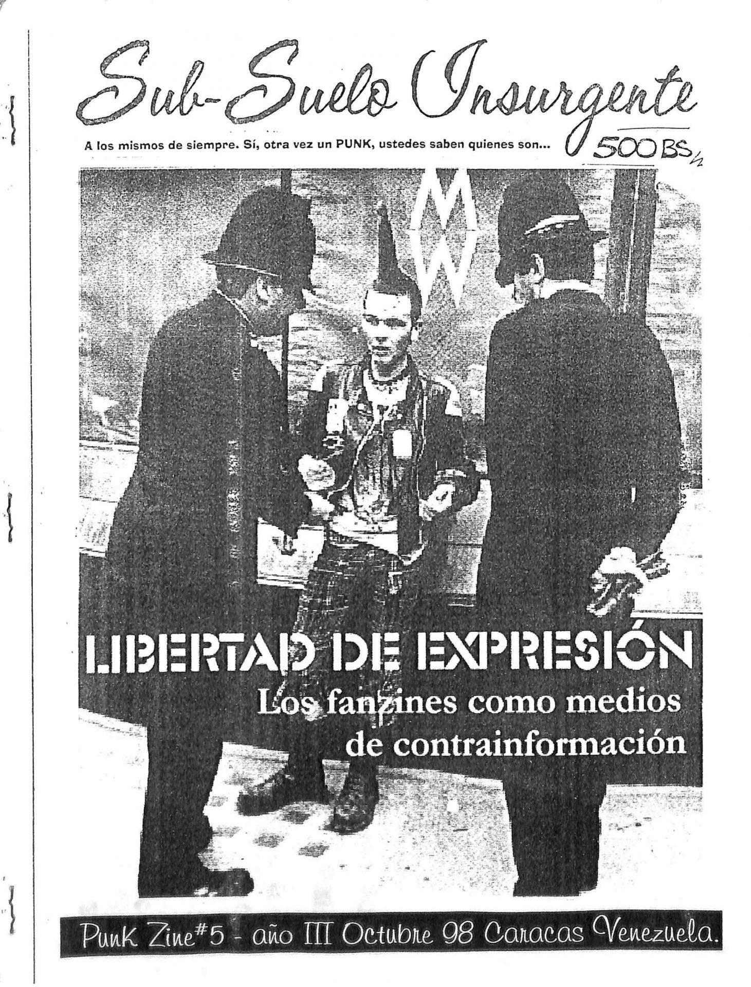 Sub-suelo Insurgente Zine No. 5, 1998